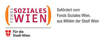 "Logo des FSW (Fonds Soziales Wien) mit dem Text ""gefördert vom Fonds Soziales Wien aus Mitteln der Stadt Wien"""