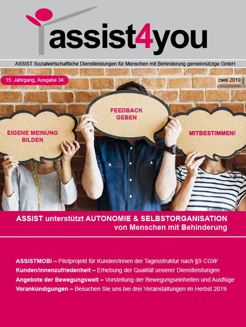 Cover der Zeitschrift assist4you