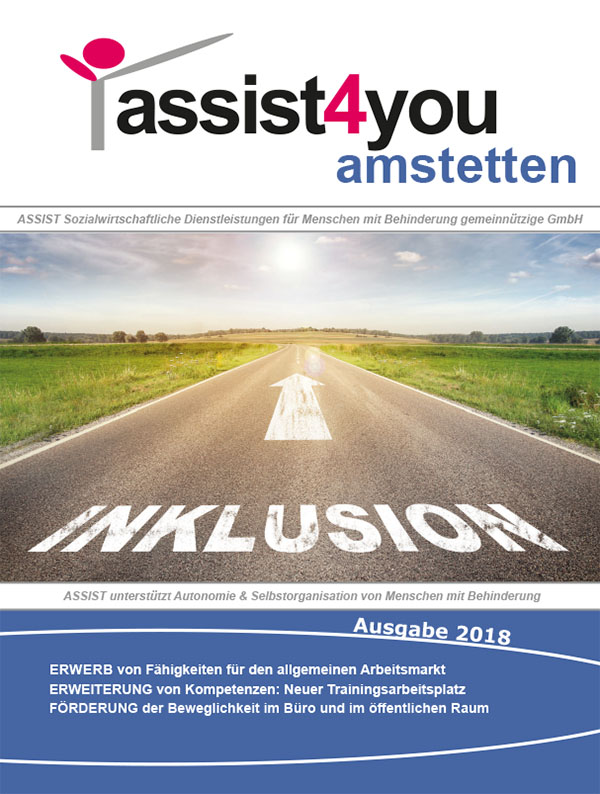 Cover der Zeitschrift assist4amstetten